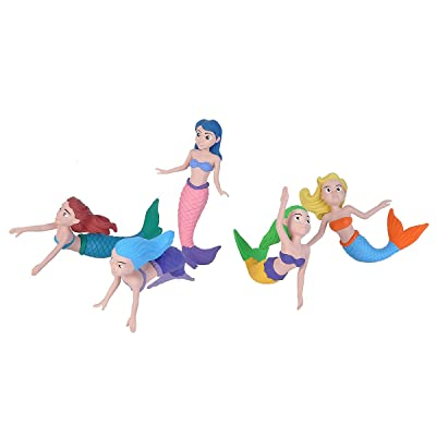 Wild Republic Mermaid Figurines Fivepiece Collection Polybag, Mermaid Toys, Mermaid Doll, Gifts for Girls, Bath Toys, Model:21510: Toys & Games