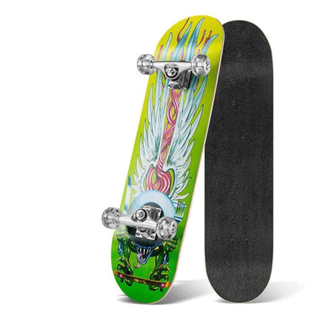 素晴らしい ダイナミックな四輪スケートボード大人の子供スケートボード両側傾斜ボードスポーツメープルウッドトラベル初心者 (色 : Chief) : (色 B07KXR2PMW フェザー Chief) フェザー, ミツキ:e88b68df --- a0267596.xsph.ru