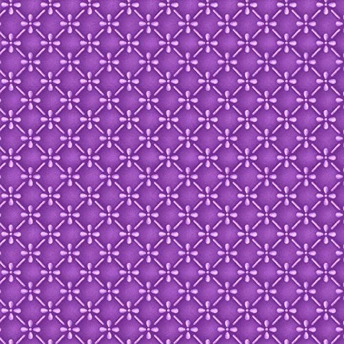 Emmas Garden~Pansy Geometric on Purple Floral Cotton Fabric by - Fabric Garden Cotton