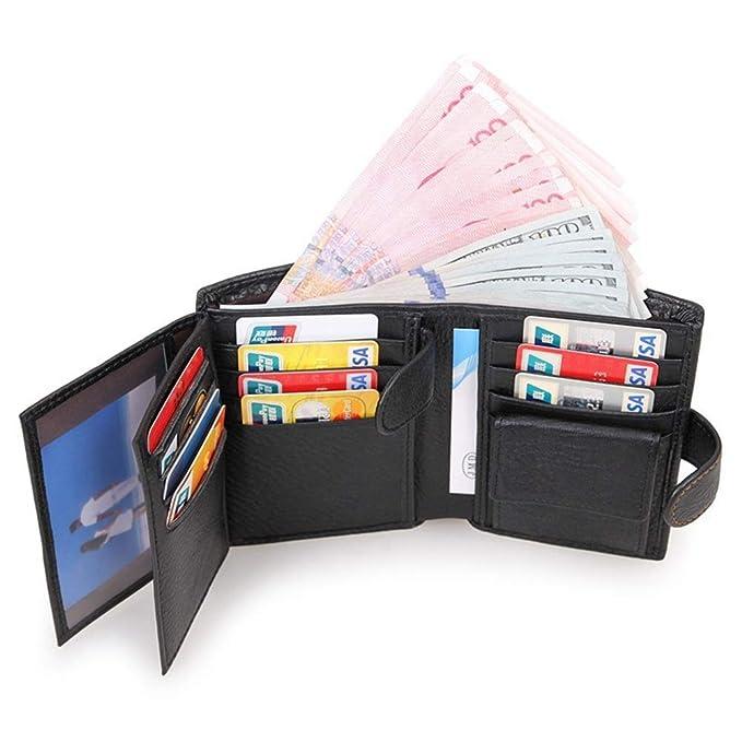 175d21d2020f Dora Bridal Large RFID Leather Card Holder Trifold Wallet Snap ...