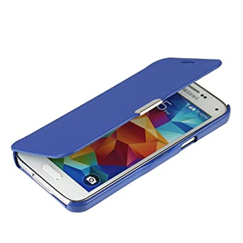 MTRONX para Funda Samsung Galaxy S5 Mini, Cover Carcasa Case Caso Ultra Folio Flip Cuero Delgado Piel con Cierre Magnetico para Samsung Galaxy S5 Mini ...