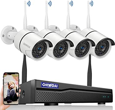 1080P Wireless Security Camera System,Full HD CCTV NVR Surveillance Camera System with 2.0MP IP Cameras Motion Detection Night Vision 8CH Expandable Remote Monitoring Weatherproof