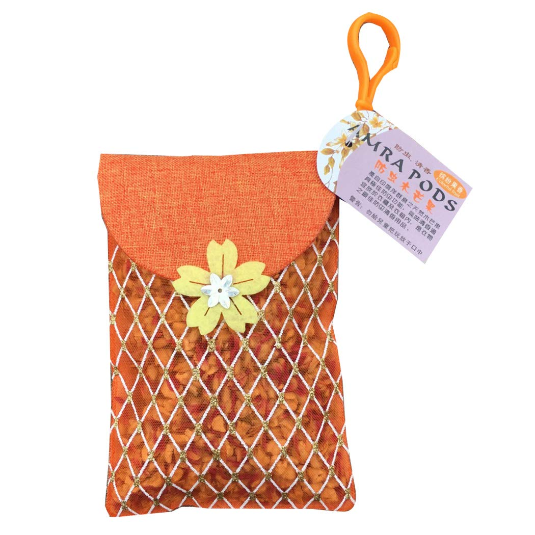 Natural Dried Flower Handmade Cloth Sachet Bag Aromatherapy Scented Sachet for Car Room Air Refreshing 2 Pack Fruit