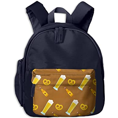 Beer Seamless Mosaic Art Print Childrenu0027s Fashion Backpack School Bookbag