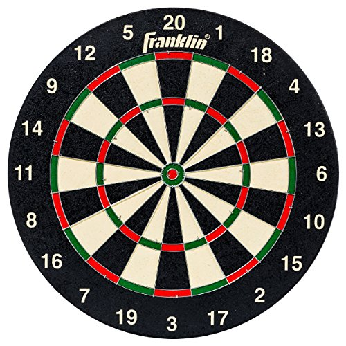Franklin Sports Regulation Sized 18In Bristle Dartboard - Professional Steel Wire Dartboard - Dartboard Mounting Hardware Included