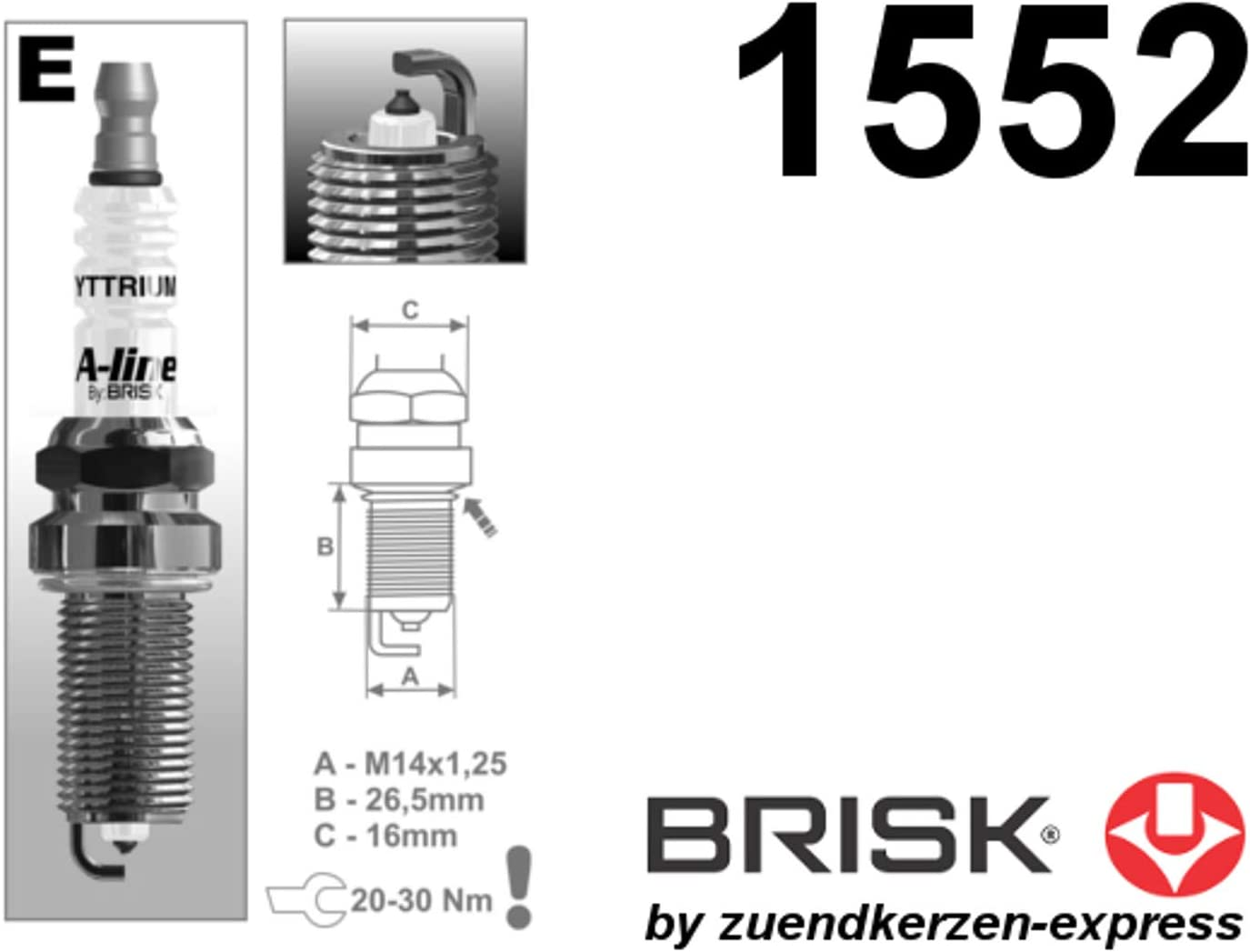 Brisk A Line 40 Yttrium Er15ypy 1 1552 Spark Plugs 4 Pieces Auto
