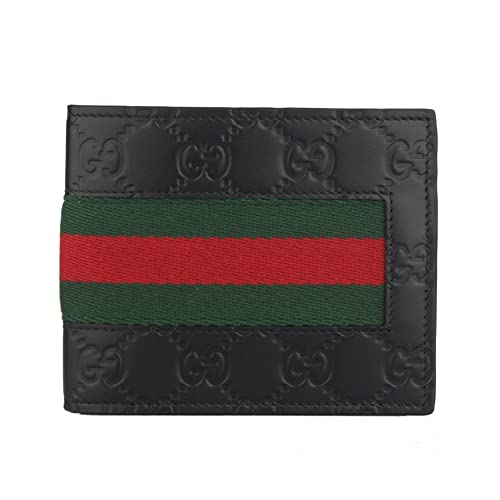 910745f17d35 Amazon | [グッチ GUCCI] メンズ ウェブ 二つ折り財布 ブラック [並行 ...