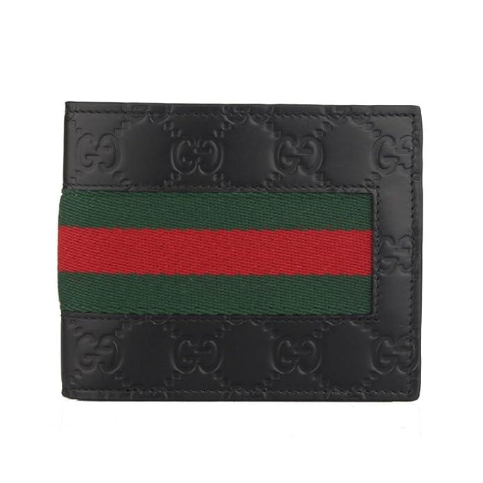 fb341dc696fe Amazon | [グッチ GUCCI] メンズ ウェブ 二つ折り財布 ブラック [並行輸入品] | GUCCI(グッチ) | 財布