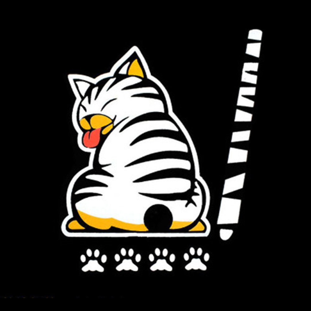 EQLEF/® fumetto divertente Cat Tail Moving adesivi riflettenti auto tergicristallo decalcomanie di Car Styling