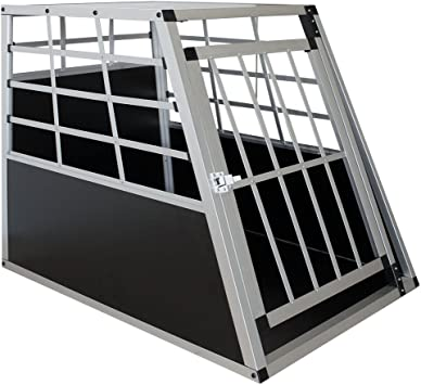 Sam S Pet Alu Hundetransportbox L 91 65 69 Cm Auto Hundebox Robust Pflegeleicht Gittertür Verschließbar Autotransportbox Für Hunde Haustier