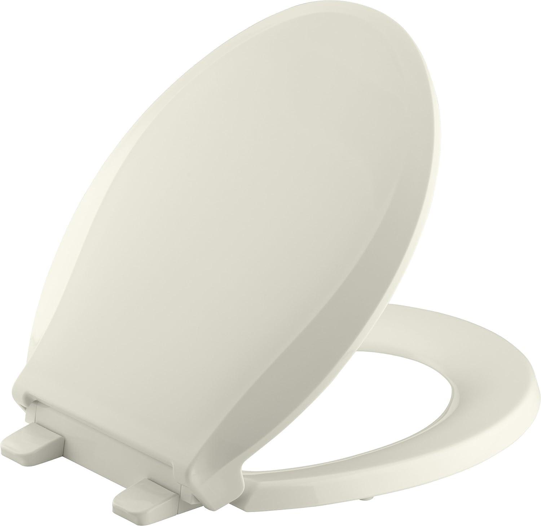 Kohler K-7316-0 Quick-Release Round-Front Toilet Seat White GRIP-TIGHT CACHET