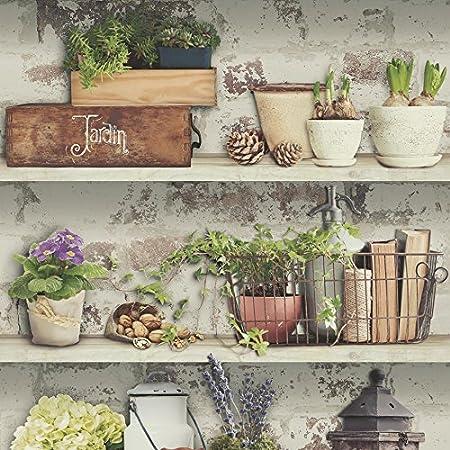 Bookshelf Wallpaper Case Novels Floral Flowerpot Lamp Paste The Wall Vinyl