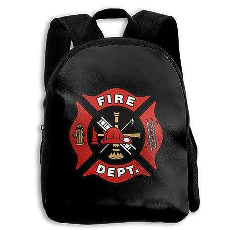 20fd26b312cb Amazon.com: Children's Shoulder Bag Firefighter Logo 3D Print Custom ...