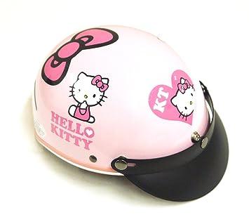 Hello Kitty estilo rosa casco de bicicleta motocicleta Honda Yamaha Suzuki adulto nuevo