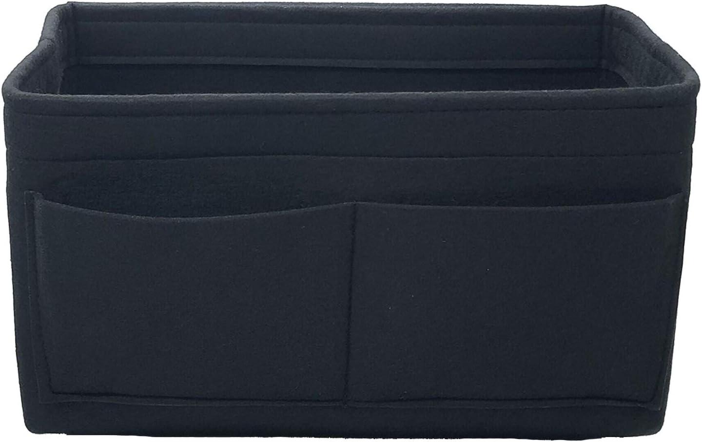 Lmeison Felt Fabric Purse Handbag Organizer Insert Bag For Speedy Neverfull Tote, 3 Sizes Black Size: M