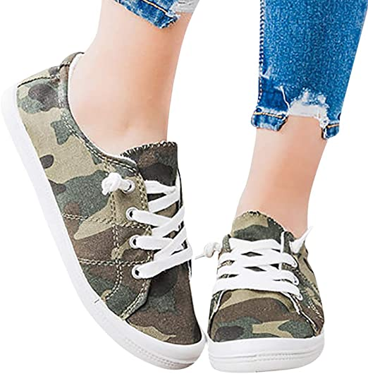 Womens Canvas Shoes Fashion Camouflage