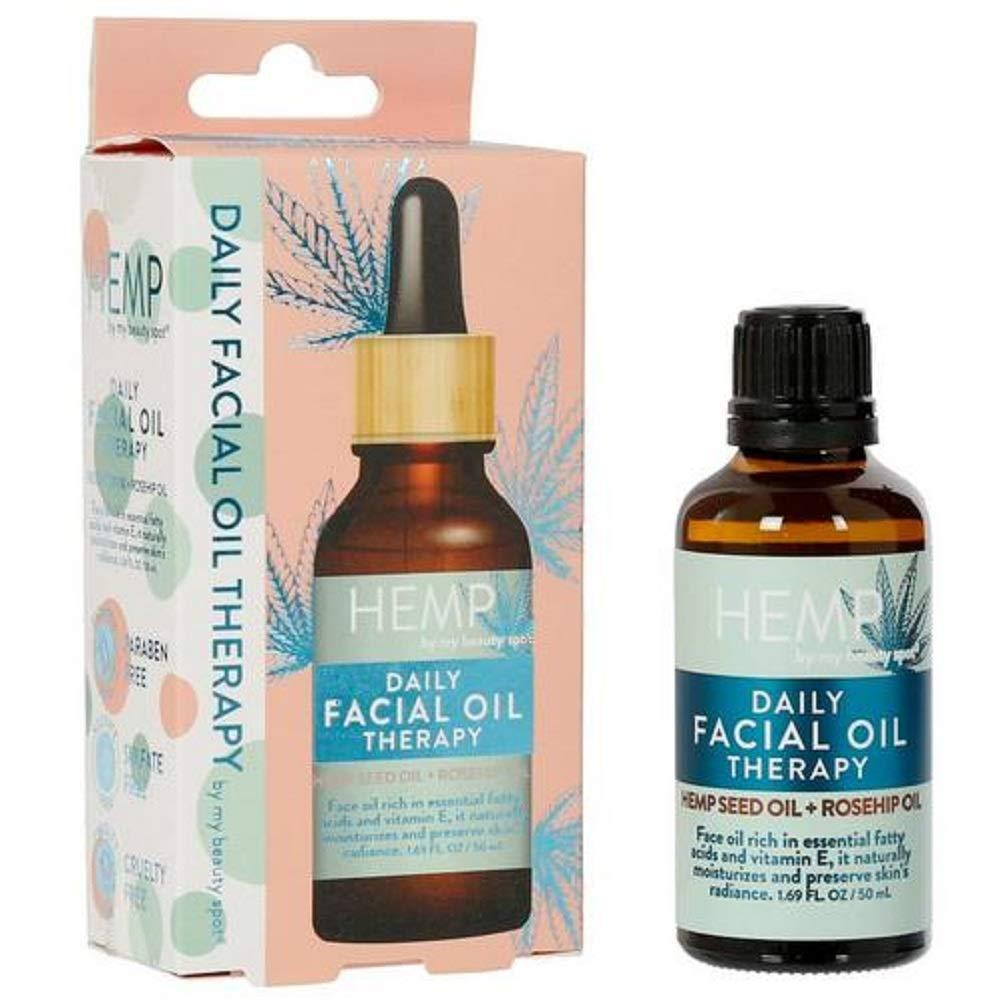 Hemp Daily Facial Oil Therapy Hemp Seed Oil & Rosehip 1.69oz