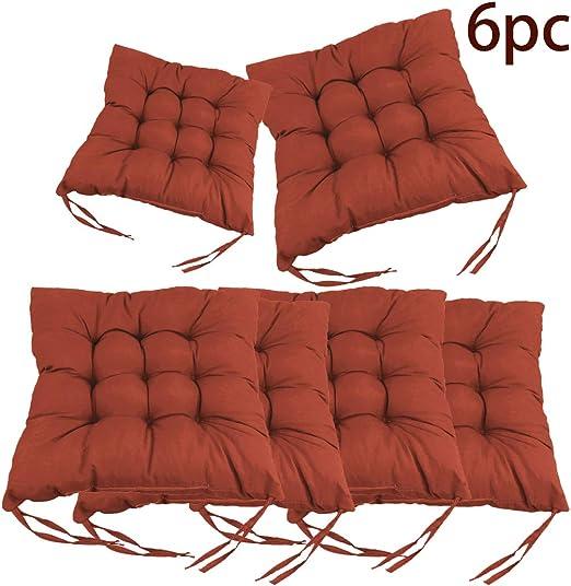mnb43t Cuscino Sedia 40x40cm, Cuscini Sedia per Interni ed Esterni Decorazione di mobili da Giardino di Diversi Colori Cuscini per sedie. (caffè)