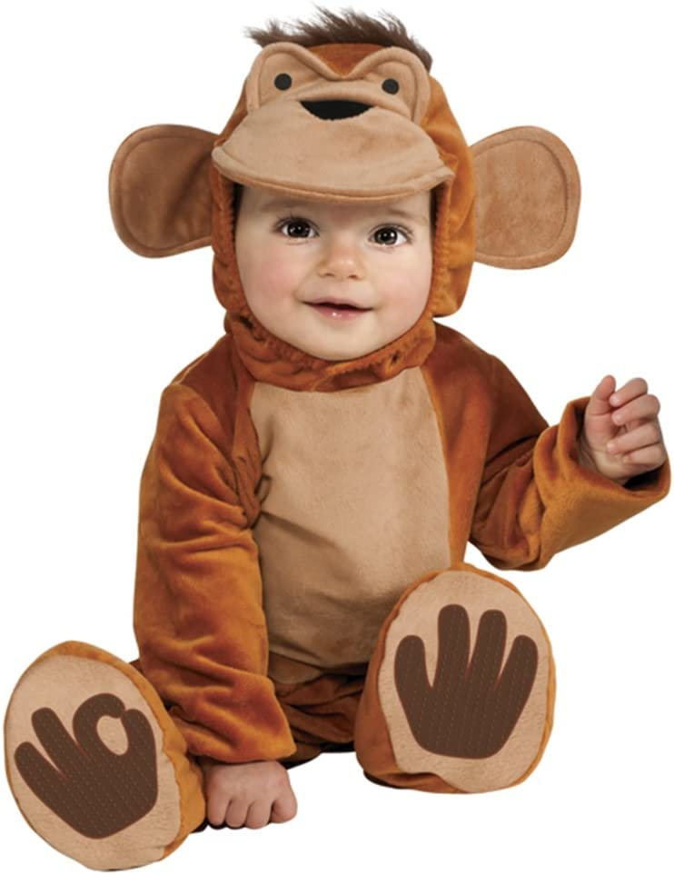 Rubies - Disfraz de mono chimpancé para niño, talla bebé 1-2 años ...