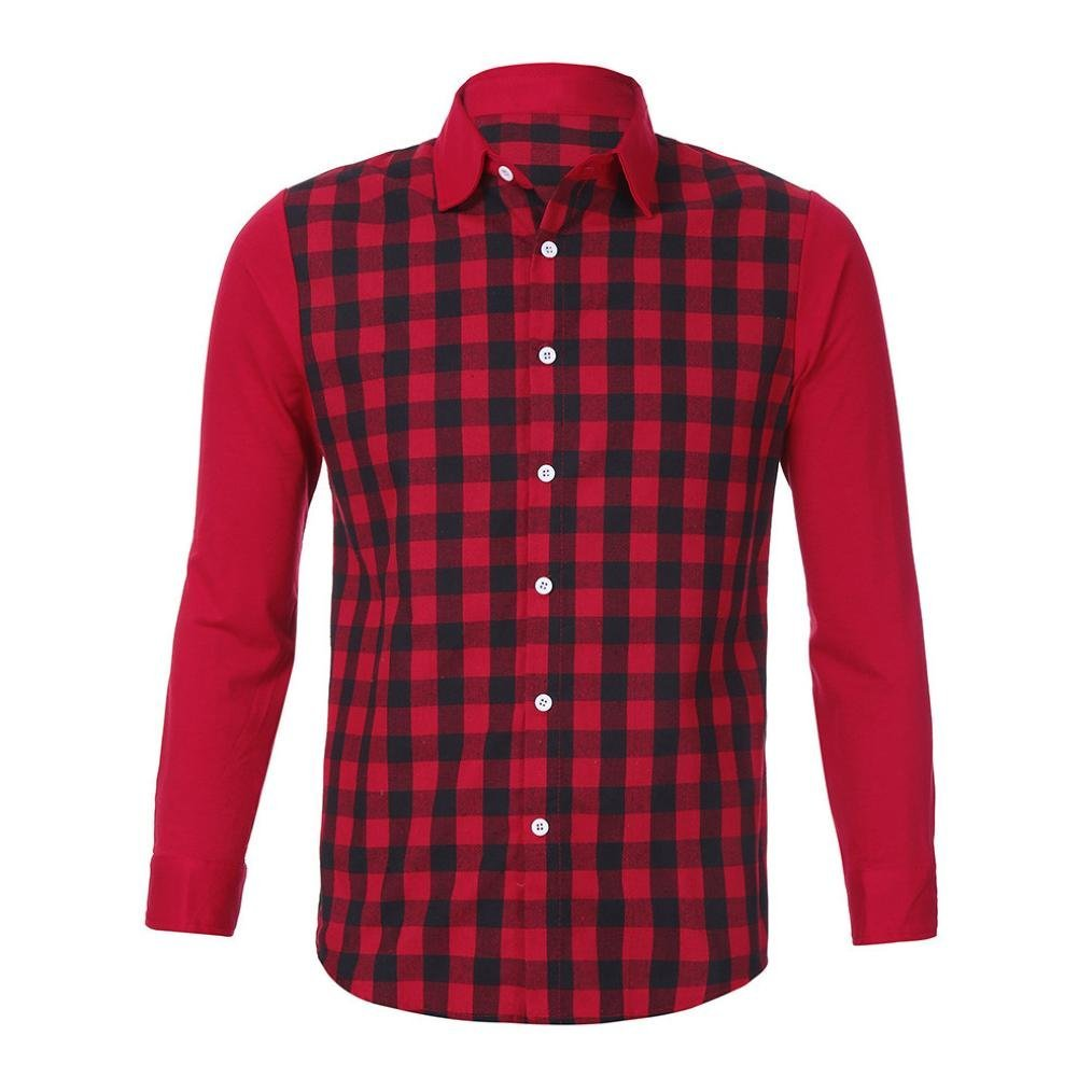 Ximandi Men Shirts Fit Mens Dress Plaid Shirts Male Clothes Social Casual Shirt