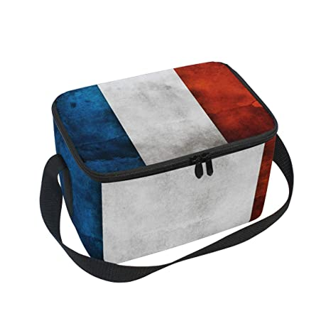 bb294dd60fca Amazon.com: Lunch Box The French Flag Womens Insulated Lunch Bag ...