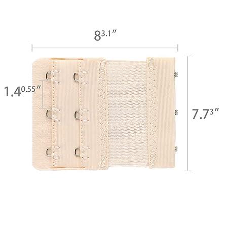 One Size 5 Pcs Fleshcolor 3 x 2 Hooks Bra Extender Hook w Eye Tape Fleshcolor Allegra K a12100500ux0886
