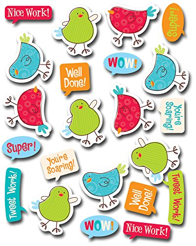 Creative Teaching Press Tweeting Birds Stickers (4186)
