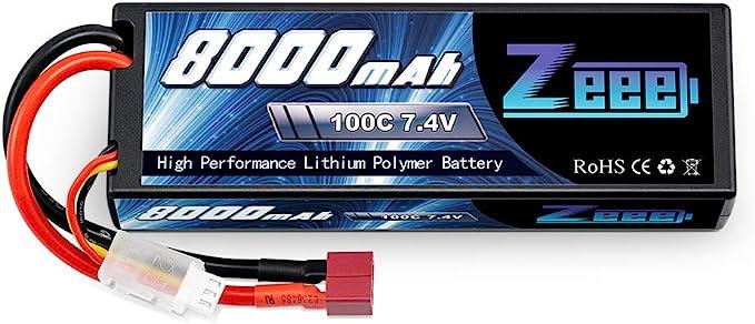 REDOX HARDCASE LiPo 8000 mAh 7,4V 100C BATTERY PACK GALAXY RC