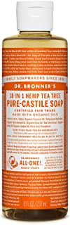 product image for Dr. Bronner's - Pure-Castile Liquid Soap (Tea Tree, 8 ounce) - Made with Organic Oils, 18-in-1 Uses: Acne-Prone Skin, Dandruff, Laundry, Pets and Dishes, Concentrated, Vegan, Non-GMO