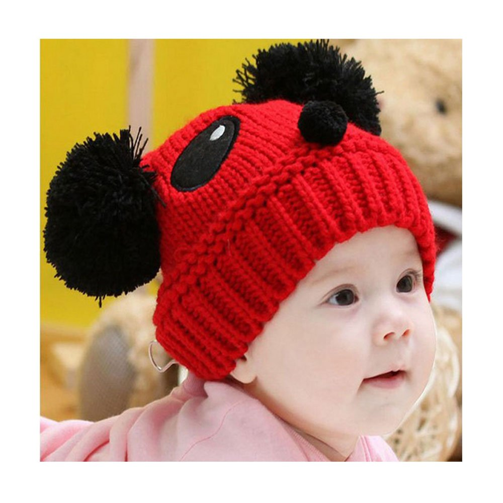 Baby Hat, Rcool Cute Baby Kids Girls Boys Stretchy Warm Winter Panda Cap Hat Beanie (White)