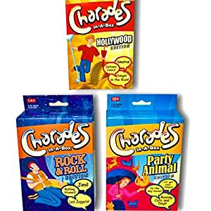 Charades Games For Kids and Adults. 3 Pack of Games, Perfect for Family Game Night.