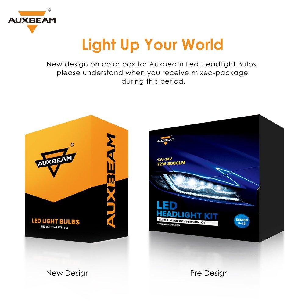 Auxbeam LED headlights F-S3 Series H8//H9//H11 LED Headlight Bulbs with 2 Pcs of H11 Headlight Bulbs 72W 8000LM CSP Chips Fog Light 2 Year Warranty
