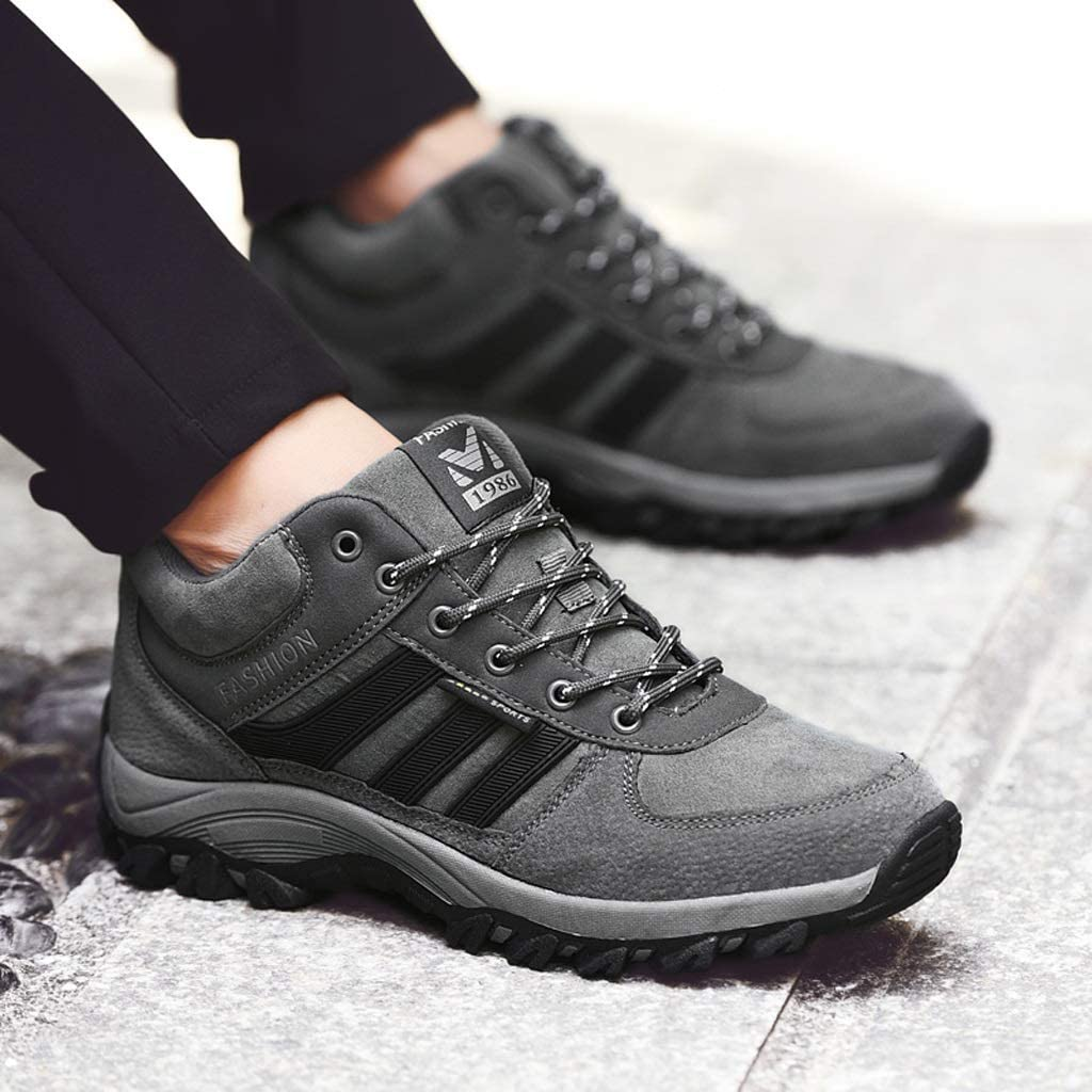 Middle-Aged Walking Shoes Outdoor Hiking Shoes Non-Slip Soft Bottom Old Shoes Sports Casual Couple Shoes Dad Black/Men Black