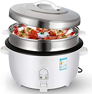Commercial High-power Rice Cooker, High-pressure Cooking Aluminum Alloy Non-stick Electric Pressure Cooker, 8-45L Hotel Canteen Household Large-capacity Rice Cooker (Color : White, Size : 28L)