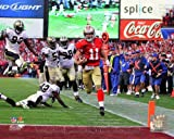 Alex Smith 8x10 Color Photo 2011 NFC Divisional Game TOUCHDOWN RUN