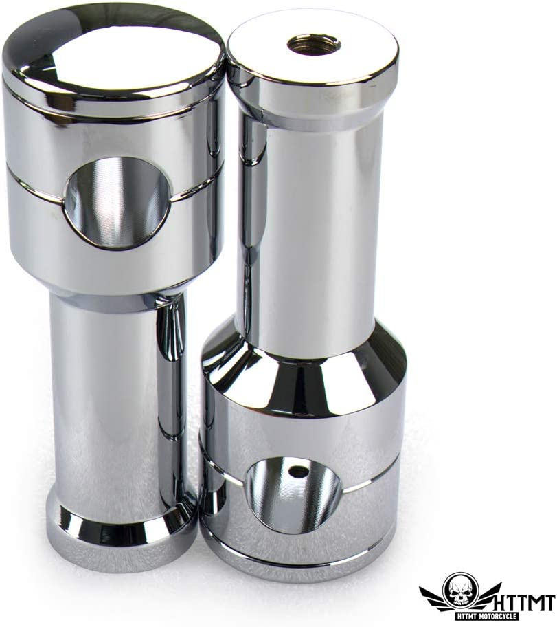 SMT B07RBYRHLF HBS011-I-CD Chrome Straight 4 Rise 1 //25mm Mount Handlebar Risers Compatible With Harley