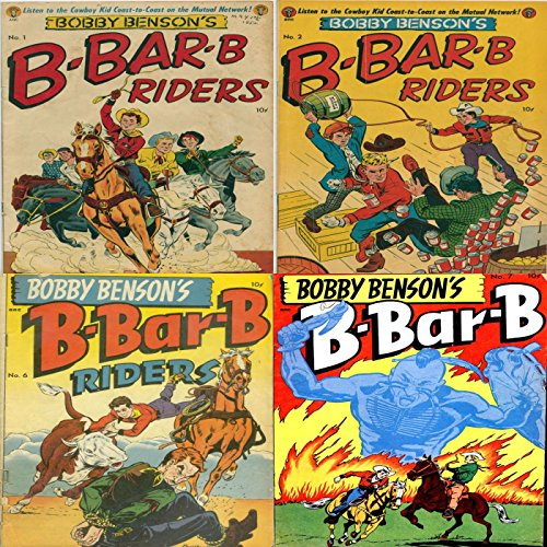 Bobby Benson's B Bar B Riders. Issues 1, 2, 6 and 7. Listen to the cowboy kid coast to coast on the mutual network. Golden Age Digital Comics Wild West Western.