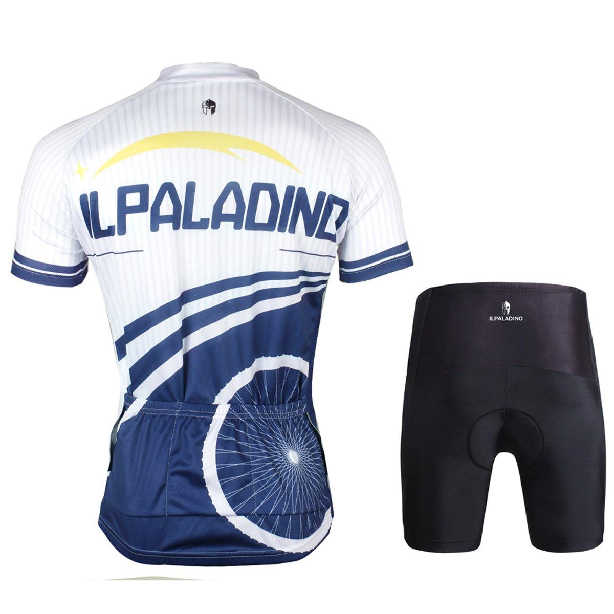 ffb0976bb Amazon.com   Ilpaladino Men s Cycling Shirts Short Sleeve for Outdoor Sports  Custom Bike Jerseys Tight Design   Sports   Outdoors