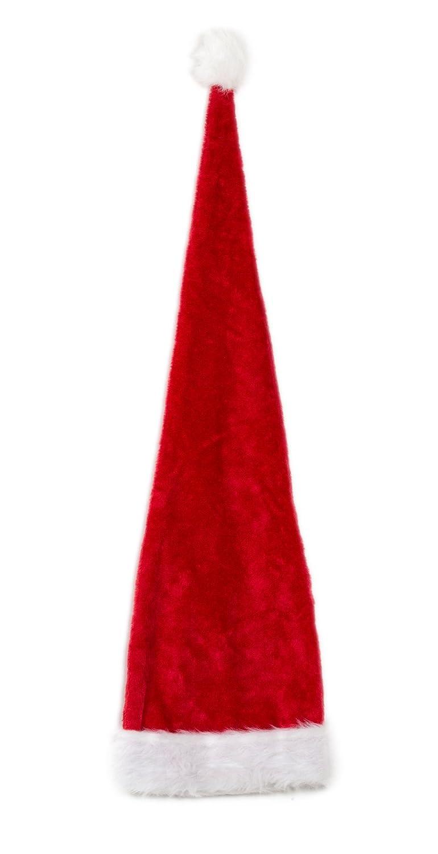 Ca 100cm Weihnachtsmütze Nikolausmütze Plüsch Rand Rot Weihnachtsfeier X59