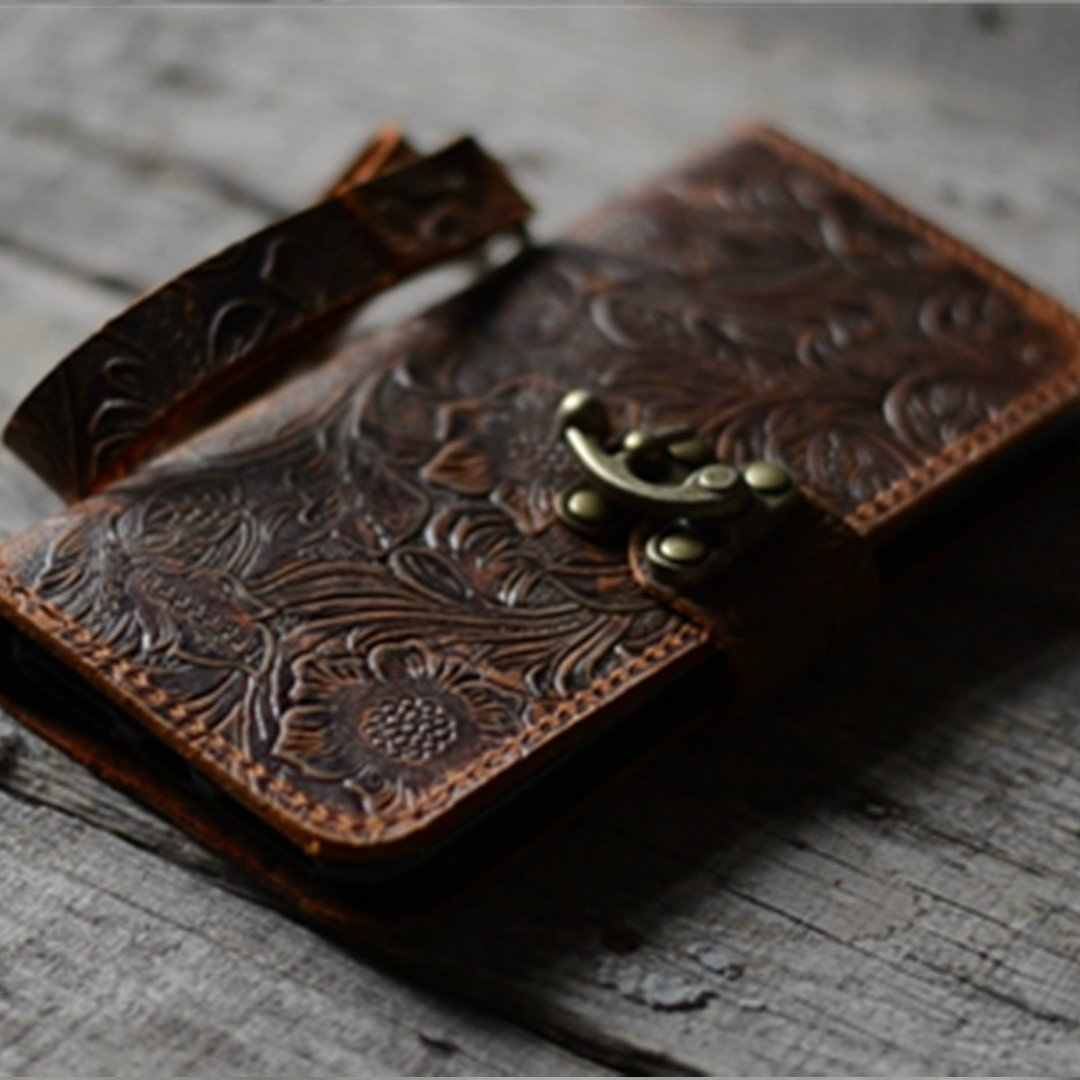 handmade Genuine leather wallet case FOR iphone 6s plus 5.5'' inch leather case for iphone 6 plus with wristlet (old brown) case -Italian -with Stand by JJNUSA