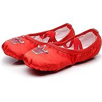 DoGeek Zapatos de Ballet de Cuero Zapatillas