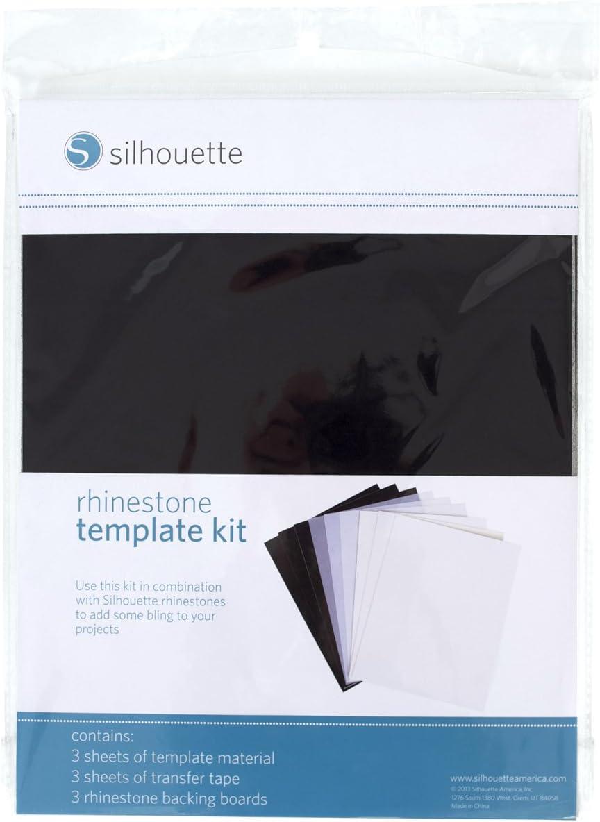 Silhouettes Of America Wht//Black-Rhinestone Templ Mat Multicolour Acrylic 22.6x28.44x1.01 cm