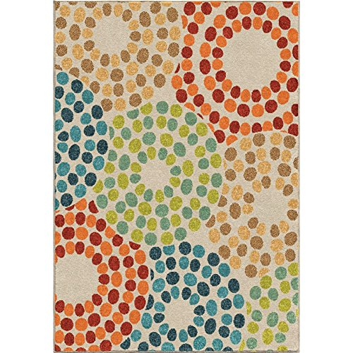 Orian Rugs Indoor/Outdoor Rugs Promise Polka Circles Multi 5' X -