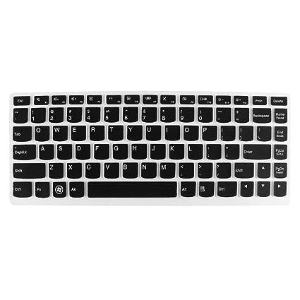 TOOGOO(R) Pelicula del protector del teclado del ordenador portatil Negro claro para Lenovo