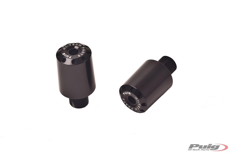 PUIG - 5617P/72 : Contrapesos terminales manillar aluminio largo 40mm