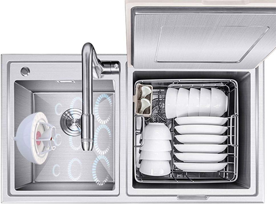 LFJNET Mini USB Ultrasound Portable Dishwasher for Fruit Vegetable Dish Washing Ruby red
