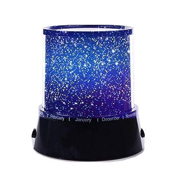 Aeeque® [Negro romántico Mini LED Estrella Proyector Lámpara [con USB Cable] lamparilla para niños bebés Lámpara de Noche Dormitorio decoración casa ...