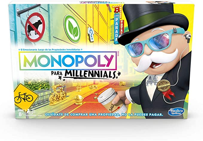 Monopoly- Millenials, Multicolor, única (Hasbro E4989105): Amazon ...