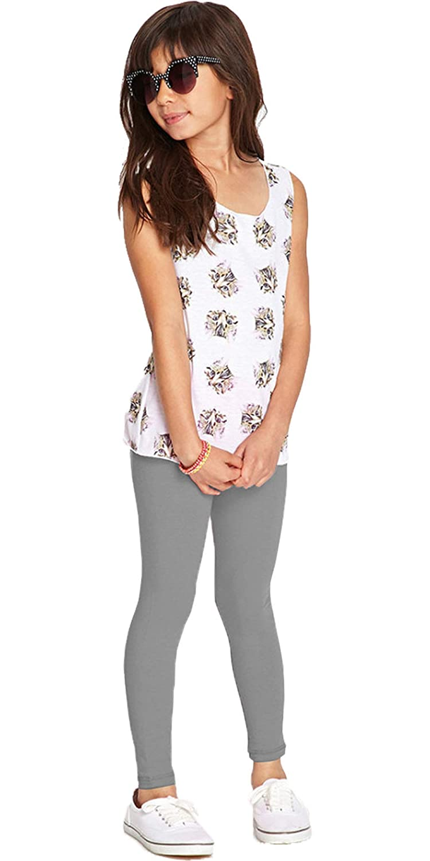 Aramoniat Girls Plain Leggings Kids Children Teen Basic Stretchy Full Length Tights