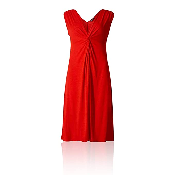 The Outlet London - Vestido - Sin Mangas - para Mujer Rojo Rosso 38
